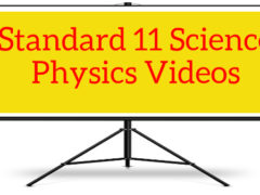 Standard 11 Science Physics videos