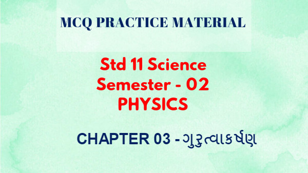 semester 2 physics mcq chapter 03