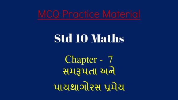 Std 10 mcq Maths